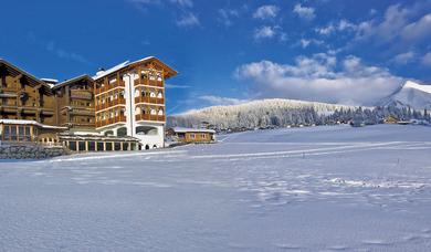 Winter time at Maranza in the Hotel Alpenfrieden